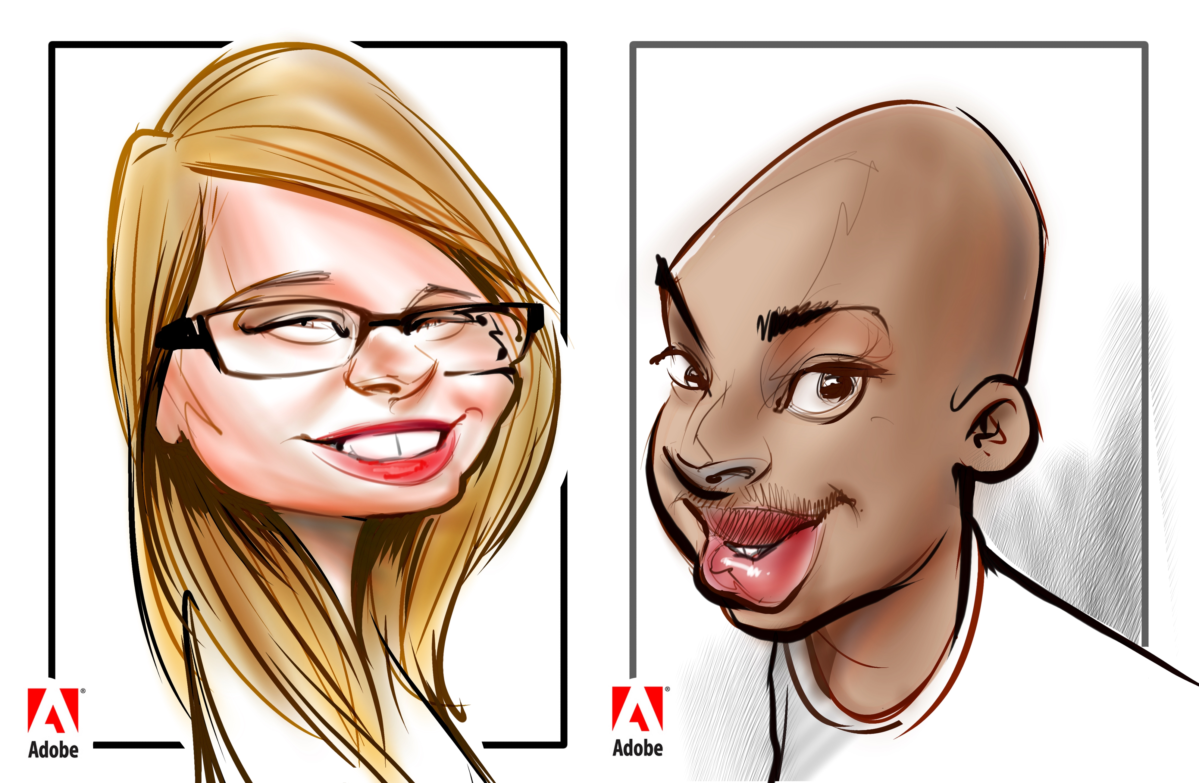 Digital party caricatures and illustrations in Canada