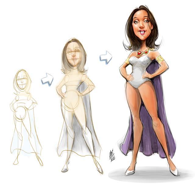 Studio caricatures and illustrations