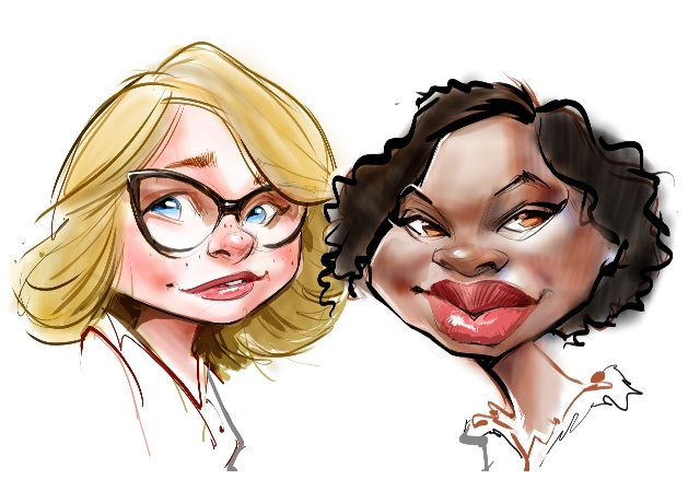 Studio caricatures and illustrations in Quebec
