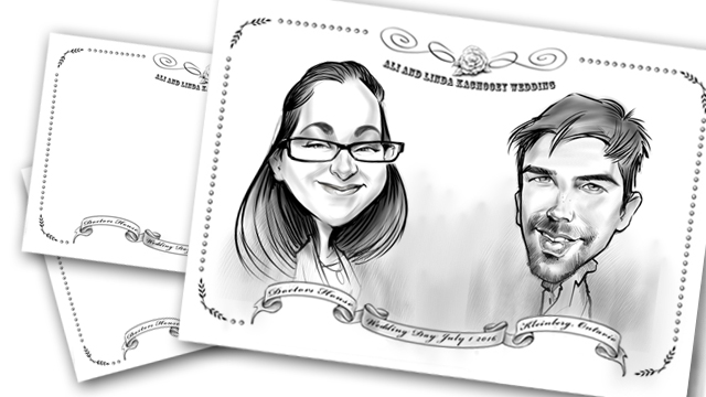 Studio caricatures and illustrations in Canada